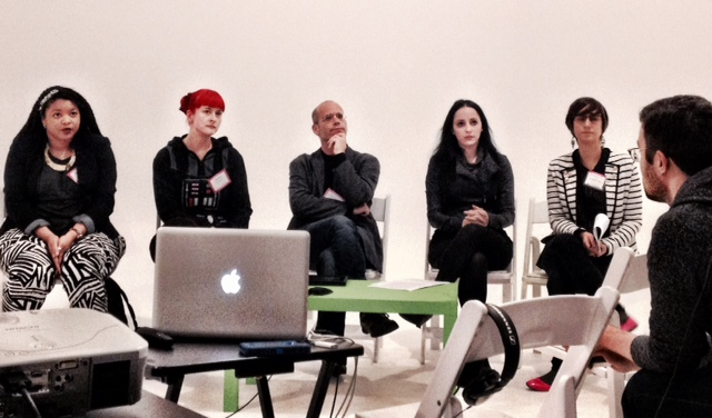From left to right: Apryl WIlliams, Anne Burns, Ofer Nur, Molly Crabapple, Rotem Rozental.