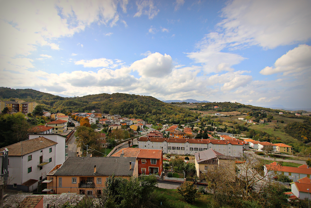 The view from the Piazza XX Settembre in Teora.