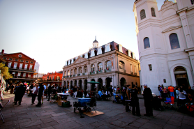 There were quite a few artists selling their goods outside in Jackson Square.