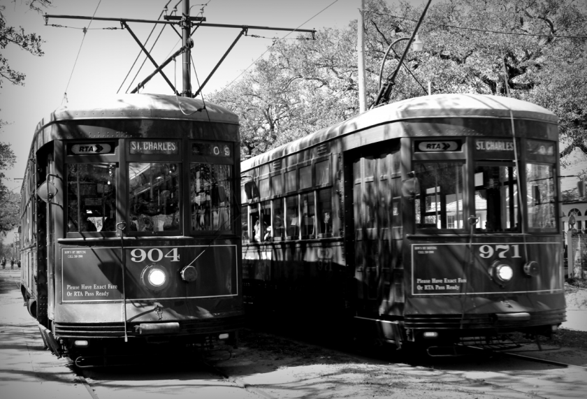 The streetcar ran all the way down St. Charles to the French Quarter.