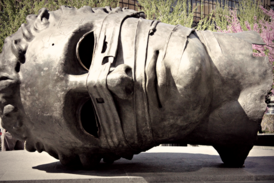 This sculpture was hollow, so you could actually climb inside.