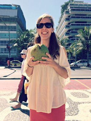 Some fresh coconut water in Ipanema.