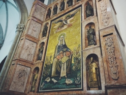 A gorgeous mosaic in the cathedral.