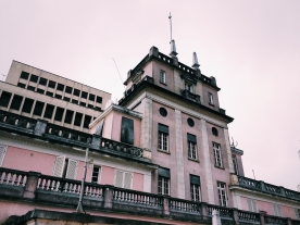 The building at the top.
