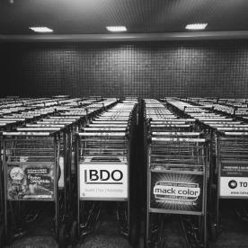 A sea of carts.