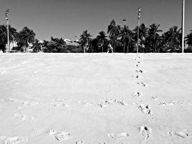 Walking on the Praia do Flamengo.