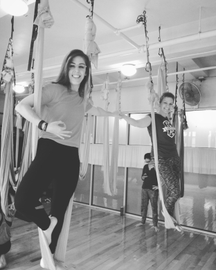 Aerial yoga and merging of friend groups.