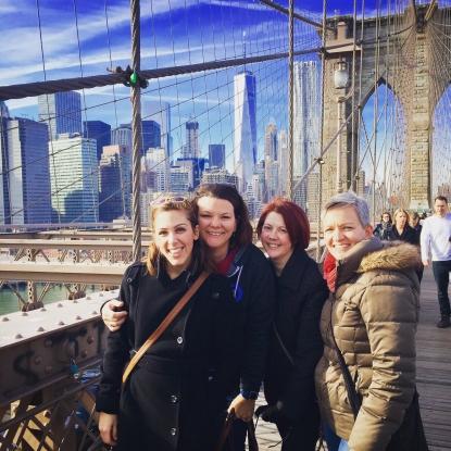 Happiness Hiring on the Brooklyn Bridge.