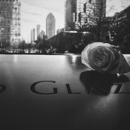 At the 9/11 Memorial.