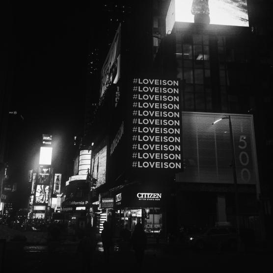 Times Square, #LoveIsOn