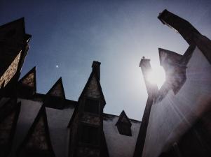 Sun over Hogsmeade.