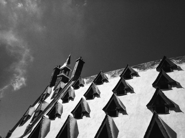 Rooftops in Hogsmeade.