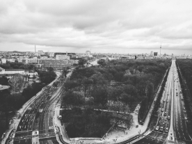 Berlin from above at the Victory Plaza.
