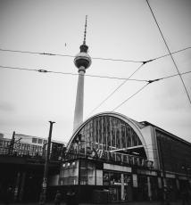 Alexanderplatz and the TV tower.