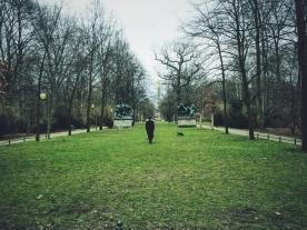 In the Tiergarten.