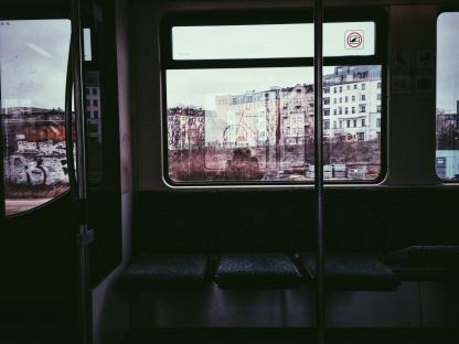 Inside the U-Bahn.