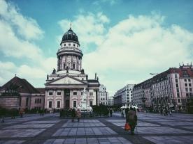 Gendarmenmarkt, the Huguenot church.
