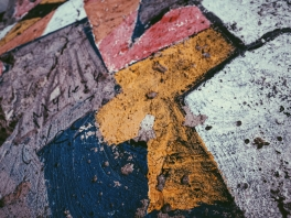Pieces of the Berlin Wall.