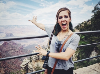 Freaking out about the landscape.