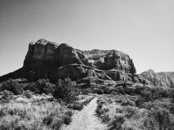 Running around Cathedral Butte.