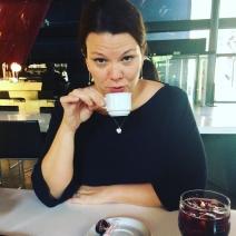 Pam drinks espresso without sugar!