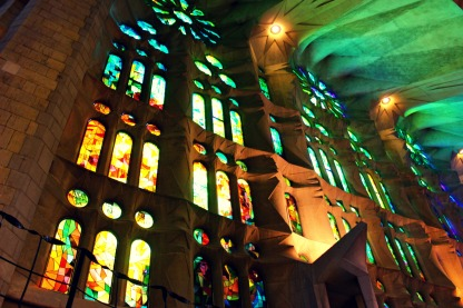 I wish I could capture how the light and colors played inside the cathedral.