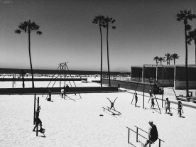 Muscle Beach - check out the gymnastics!