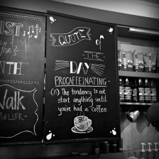 From a cute coffee shop in Whistler.