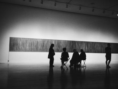 Observing art at MOCA.