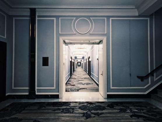 Palace Hotel hallways.