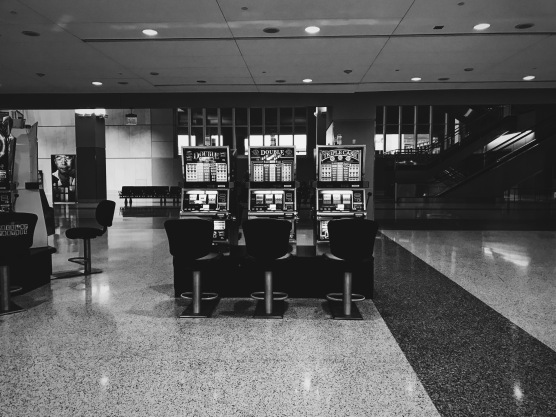 Slot machines in the airport