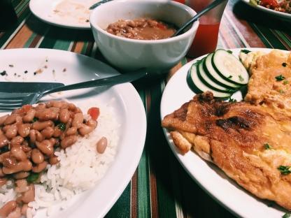 Meré at Dunas de Marapé was an angel and made me separate vegetarian food.