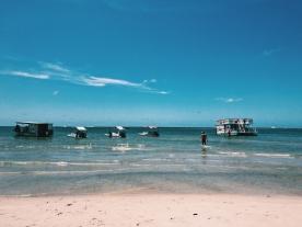 Beach and food at Gunga.
