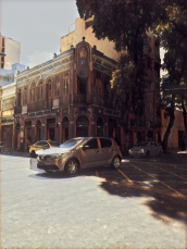 A Prisma-fied street corner in Lapa.