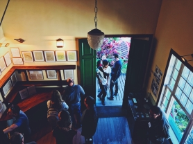 Inside Santos Dumont's house.