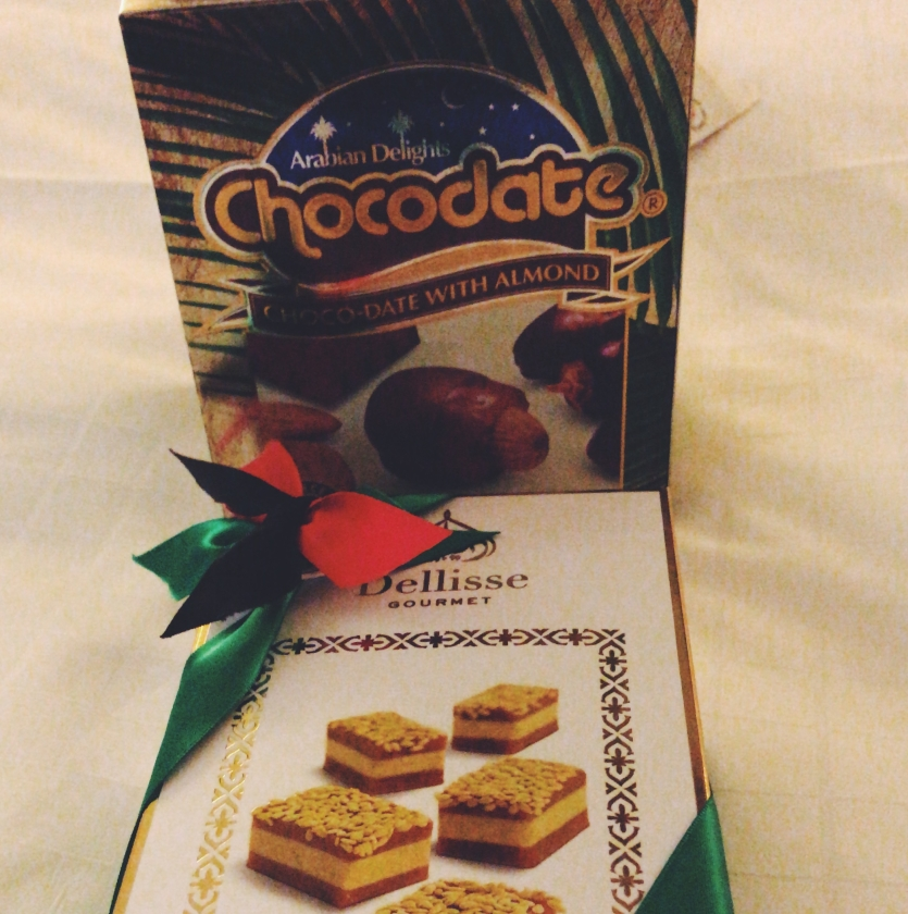 I cannot stop eating these - ChocoDates and halawa!
